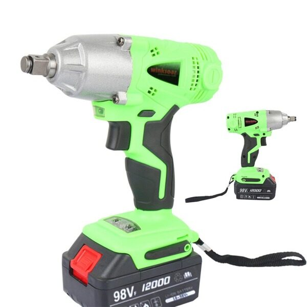 【UK Plug】Electric Cordless Impact Wrench Drill Driver Tool 1/2 Ratchet Drive Sockets