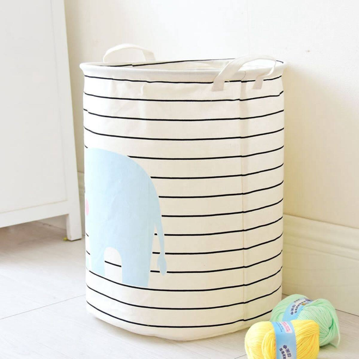 Fabric Laundry Basket Waterproof Basket For Toys Baby Dirty Clothes Baskets Laundry Hamper Picnic Basket Lazada