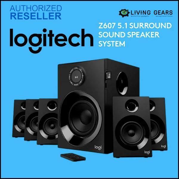 LOGITECH Z607 5.1 SURROUND SOUND SPEAKER SYSTEM Powerful Sound with Bluetooth 80W (980-001319) Malaysia