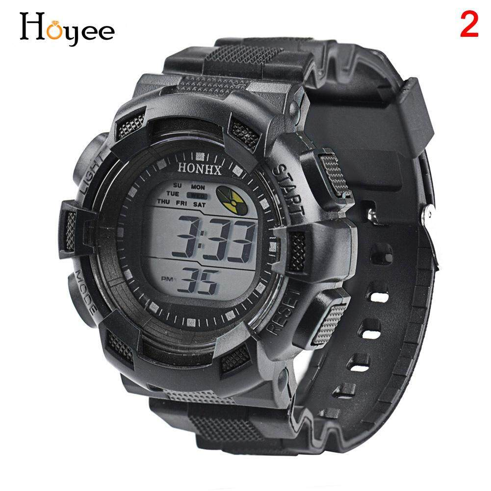 Hoyee Kids Sports Electronic Watch Waterproof Black Dial with PU Strap Malaysia