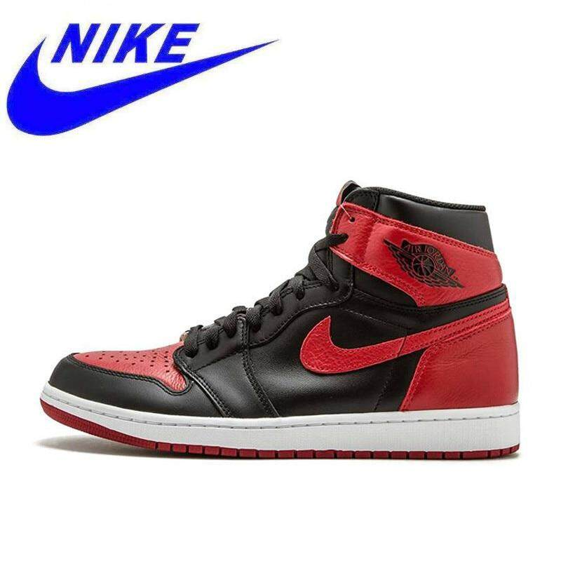 best cheap bf150 c177a Original New Arrival Nike Air Jordan 1 OG Banned AJ1 Breathable Men s  Official Basketball Shoes Sports