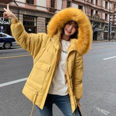 Áo khoác lông vũ có mũ cho nữ, áo Parka Áo phao dày cỡ lớn dáng dài có túi mùa đông 2020