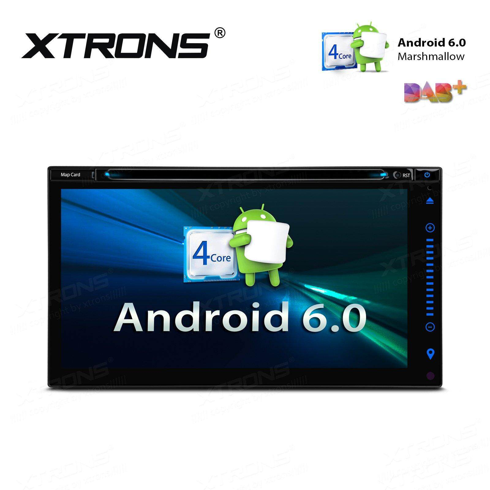 Xtrons 6.95 Inch Car Stereo Quad-Core 16g Rom Android 6.0 Hd Capacitive Touch Screen Digital Car Radio Auto Head Unit Dvd Radio Player Gps Wifi Obd2 Screen Mirroring Dvr By Xtrons.