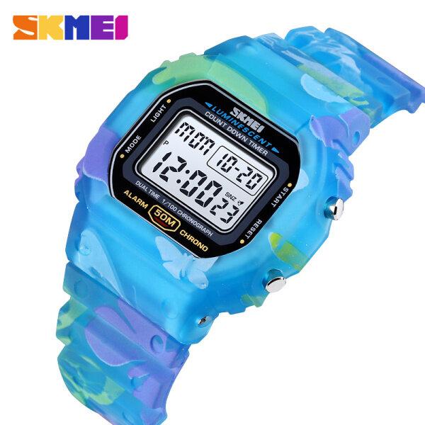 SKMEI Children Sport Watch LED Digital Watches Multifunction Electronic Waterproof Watch For Kids Boys Girls Gifts 1627 Malaysia