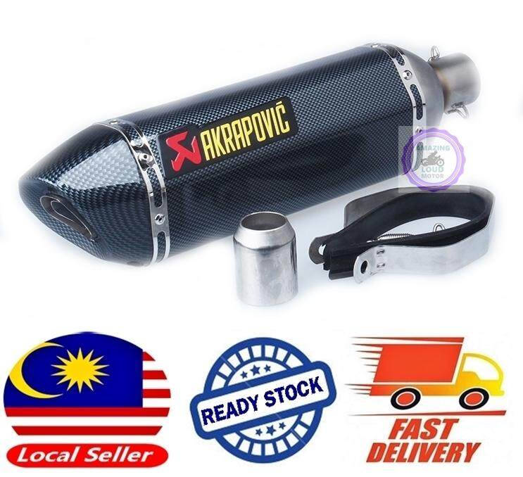 Akrapovic Big Muffler 51mm Exhaust Motorcycle Superbike Ekzos Full Fibre