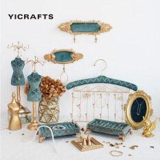 Yicrafts Giá đỡ để đồ trang sức, bông tai bằng kim loại màu morandi, kích thước nhỏ gọn, phù hợp để bên cạnh giường ngủ, tủ quần áo hoặc bàn làm việc