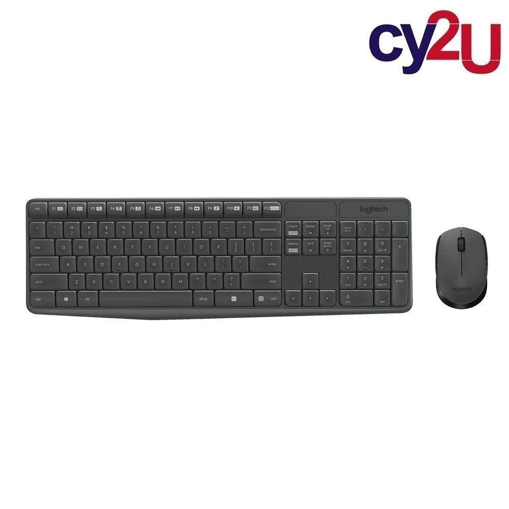 LOGITECH MK235 WIRELESS COMBO KEYBOARD & MOUSE (Black) Malaysia