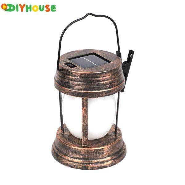 (Sẵn Sàng) Đèn Lồng LED Năng Lượng Mặt Trời Đèn Treo Dầu Hỏa Cổ Điển, Đồ Trang Trí Sân Vườn Cổ