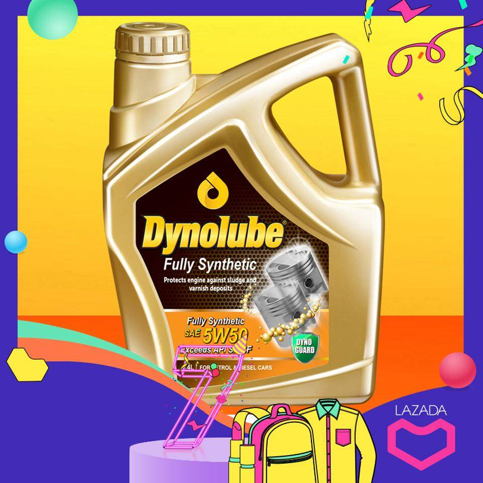 Dynolube 5w50 Sn/cf Fully Synthetic 4liter (for Turbo Engine) Engine Oil By Elube.