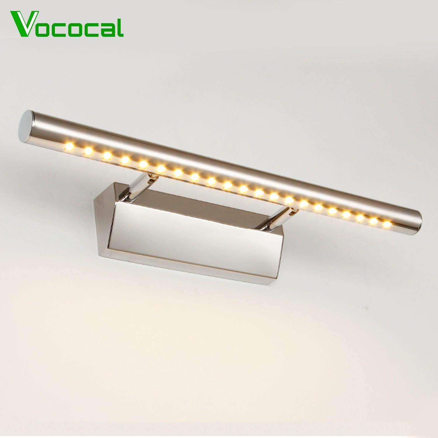 【In stock】Vococal 5W 21-LED Adjustable Stainless Steel Wall Washer Mirror Front Light Lamp with Switch for Home Bedroom Hallway Closet Indoor Bathroom