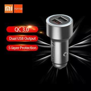 Bộ Sạc Xe Hơi Xiaomi 70Mai Sạc Nhanh 3.0 Đầu Ra USB Kép Bảo Vệ Nhiều Bộ Sạc Xe Hơi Nhanh Bộ Sạc Điện Thoại Có Màn Hình LED Cho iPhone Huawei Samsung Midrive CC02 thumbnail