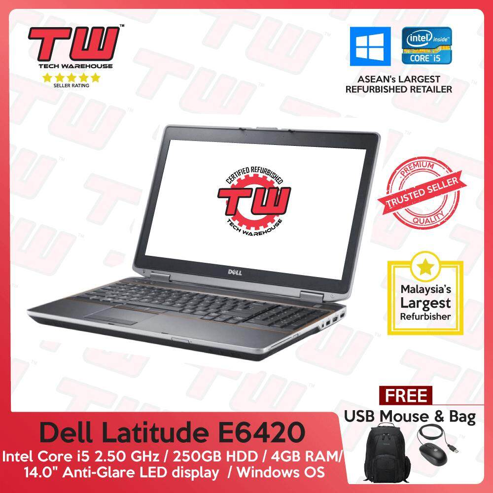 Dell Latitude E6420 Core i5 / 4GB RAM / 250GB HDD / Windows OS Laptop / 2 years Warranty (Factory Refurbished) Malaysia