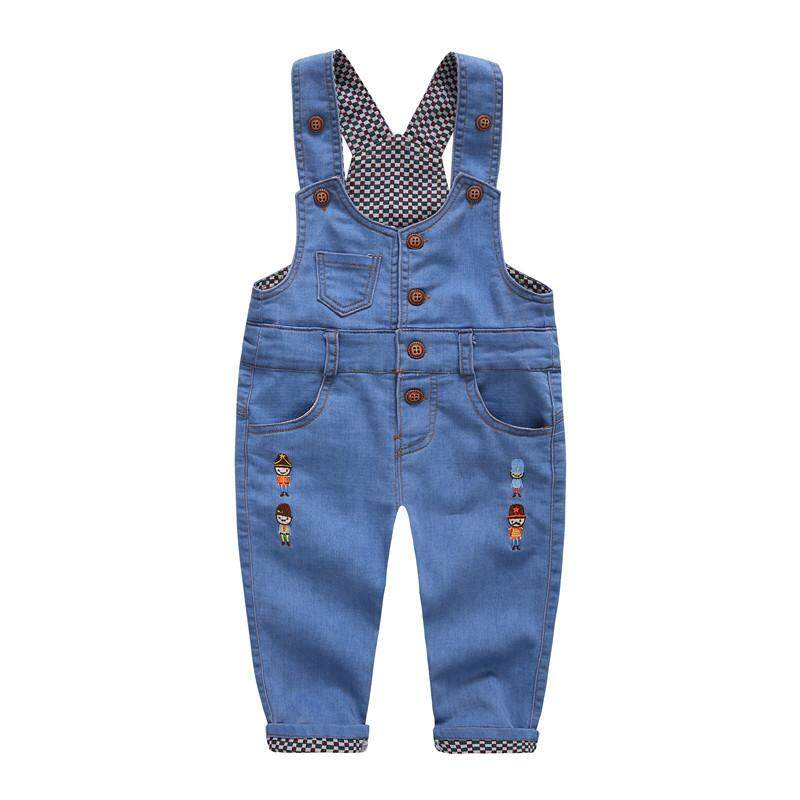 be89832e9c19 IENENS Baby Boys Girls Denim Overalls Long Pants Toddler Dungarees Kids  Child Boy Classic Jeans Trousers