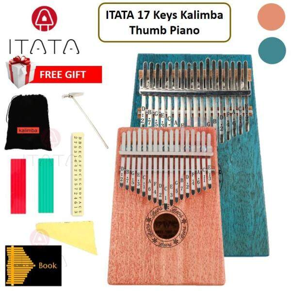 ITATA 17 Keys Kalimba Thumb Piano Finger Beginner Acoustic Portable Manual Folk Classic Keyboard Music Musical Instrument Wood Bamboo Tune Rectangle Shape Malaysia