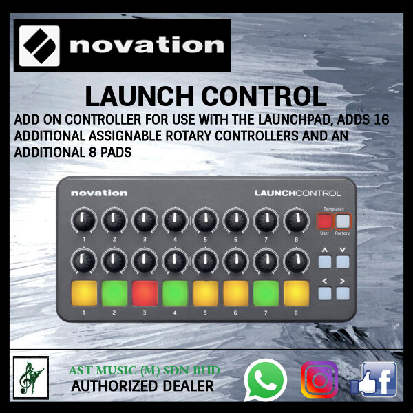 Novation Launch Control With 8 x Multicolor Backlit Buttons and 16 x Knobs Malaysia