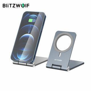 BW-TS5 BlitzWolf Đế Sạc Không Dây MagSafe Hợp Kim Nhôm Có Thể Gập Lại Máy Tính Để Bàn Chủ, Dành Cho Dòng iPhone 12 thumbnail