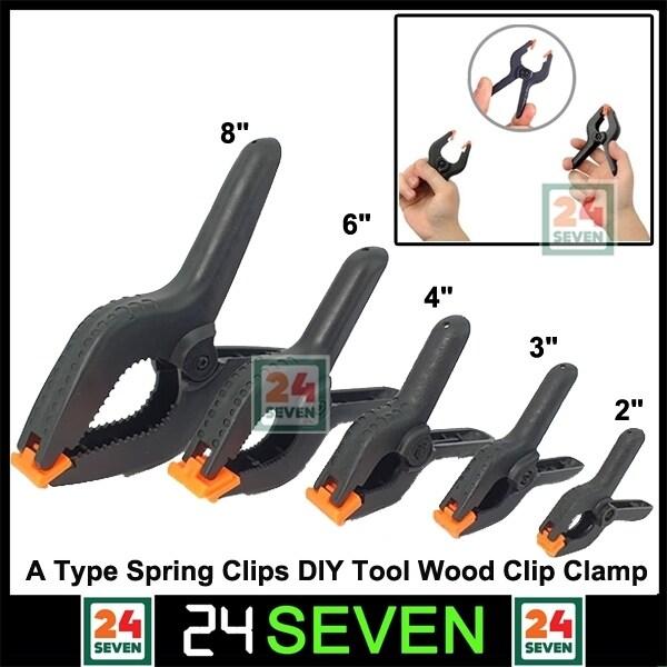[ READY STOCK ] 2 3 4 6 8 Inch A Type Spring Clips Plastic PVC Nylon Modelling DIY Tool Wood Clamp Fixed Clip Clamp / Alat Kerja kayu / Pengapit Kayu