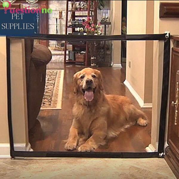 5.9x2.4ft lưới Dog cổng cho trong nhà ngoài trời gấp ma thuật Pet Dog an toàn hàng rào vật nuôi