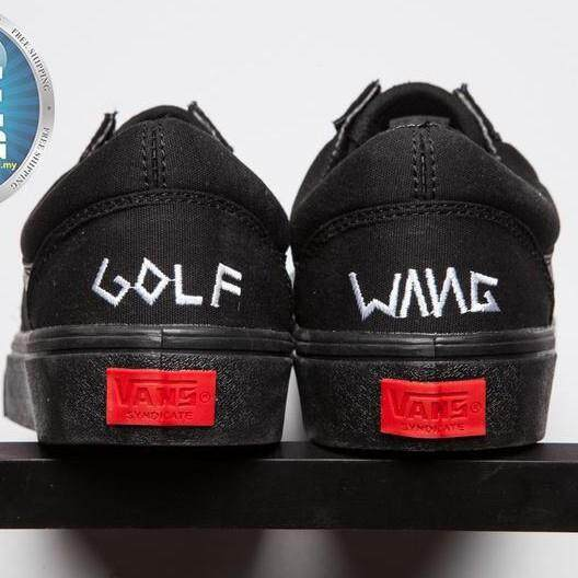 f1778bdd7145 Vans GOLF WANG OLD SKOOL PRO Black Casual Man Shoes Woman Sneakers Couples