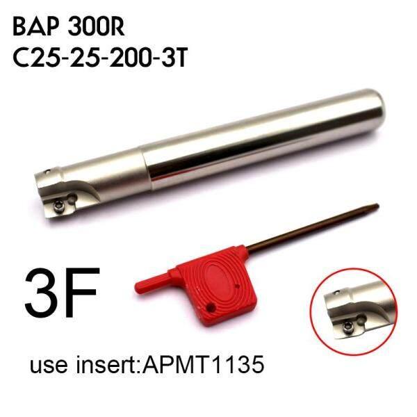 BAP 300R C25-25-200-3T Gia Công Trung Tâm Dụng Cụ Chính Xác Dao Phay Cấp Cối Xay Shank 200 Dài Đường Kính 25mm Dao Phay dụng cụ cho APMT1135 Carbide Miếng Lót