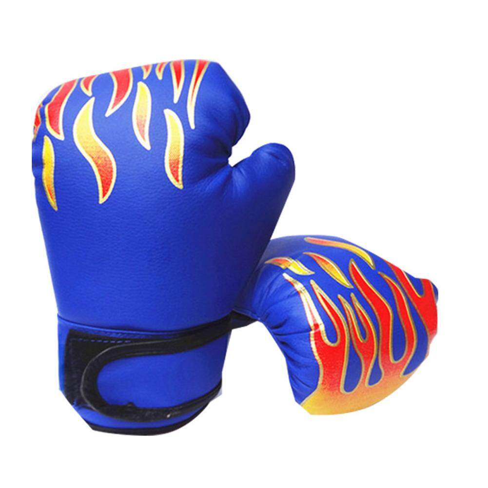 62649320c73 Child Fighting Adjustable Kids Boxing Gloves PU Leather Sparring Kickboxing  Training Gloves