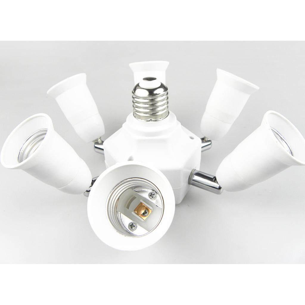 Perfk 1 to 3 / 1 to 6 Adjustable E27 Base Light Bulb Adapter Holder Socket Splitter