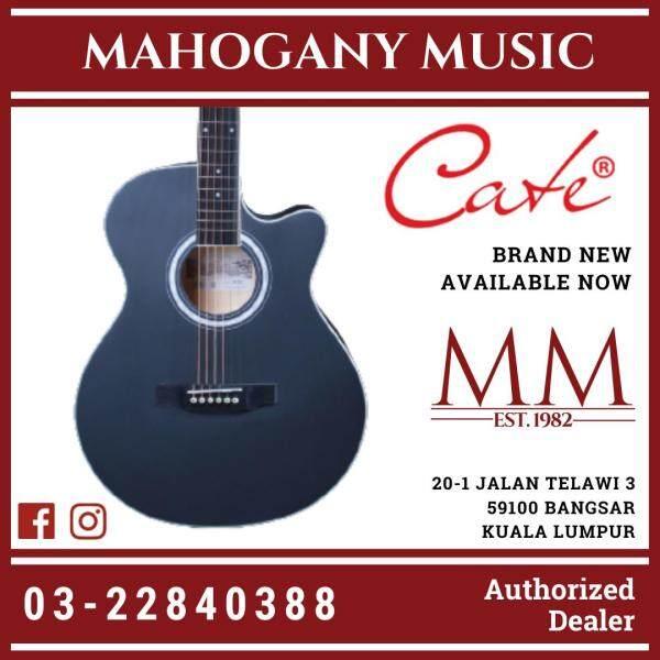 Cate QM-601C Cutaway Black Finish Acoustic Guitar Malaysia