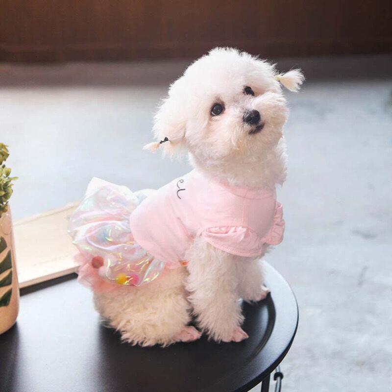 Dễ Thương Bóng Chó Váy Dạ Tiệc Công Chúa Chó Mèo Pet Váy Tutu Váy Cưới Mùa Hè Chihuahua Chó Nhỏ Vest Áo Áo Hoodie Quần Áo