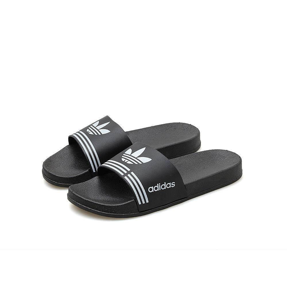 Fashion Kualitas Tinggi Unisex Original_Adidas Sandal Musim Panas 2019 Tren Sandal Kasual Rumah Penting Huruf Sandal Tercetak