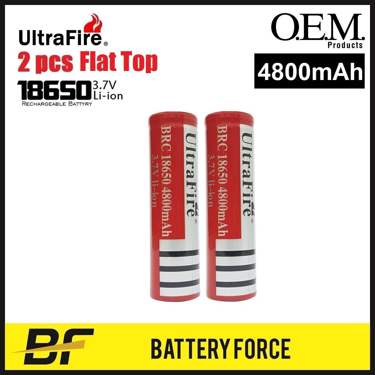 3.7v 18650 Ultrafire 4800mah Flat Top Rechargeable Lithium Ion Battery Brc Vape Battery By Battery-Force.
