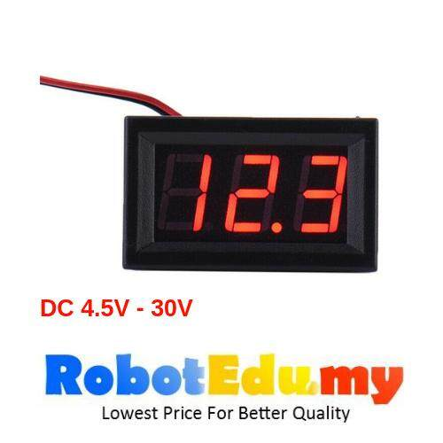 0.56 inch M657 Digital Display DC Voltmeter 4.5-30V / DC4.5-30V LED Red 2 Wires Malaysia