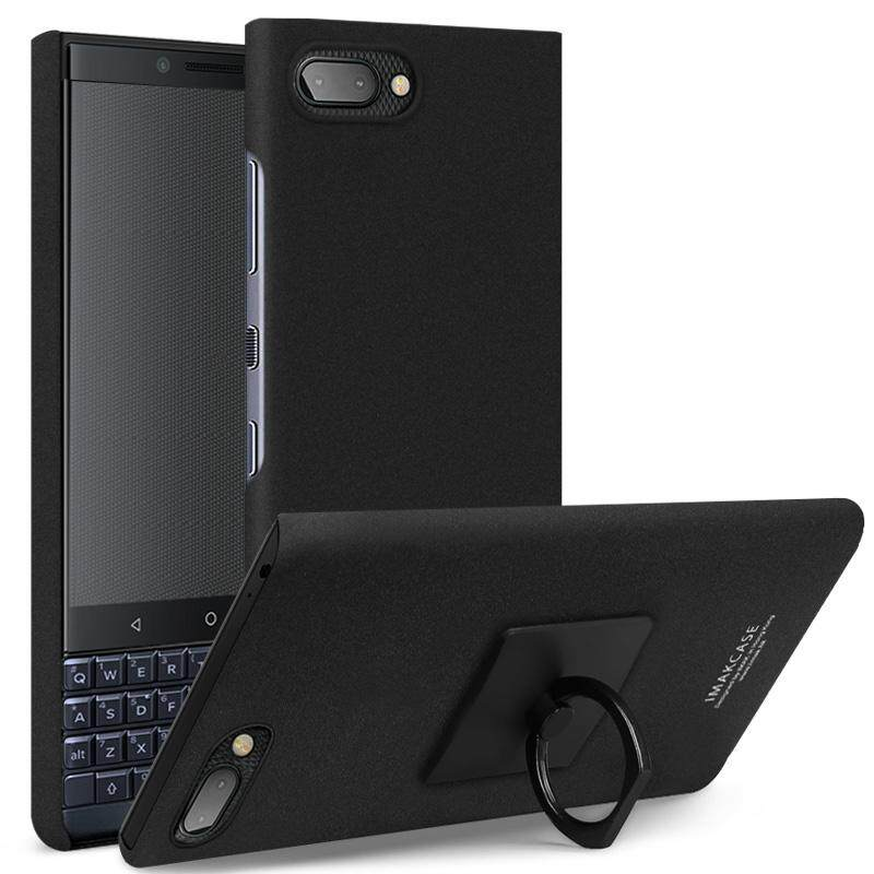 For Blackberry Key2 Le Imak Cowboy Holder Case 4.5 Inches Sandy Matte Touch Hard Pc Cover With Screen Protector.