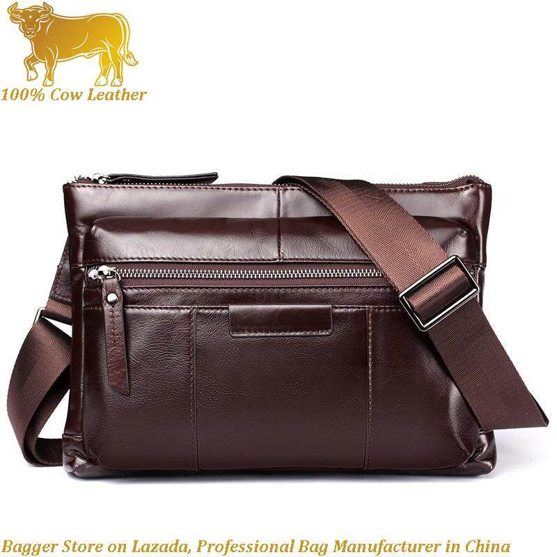 db2c61e39c 100% Italy 100% Genuine Cow Leather New Men s Fashion Chest Crossbody Bag  Cowhide Single