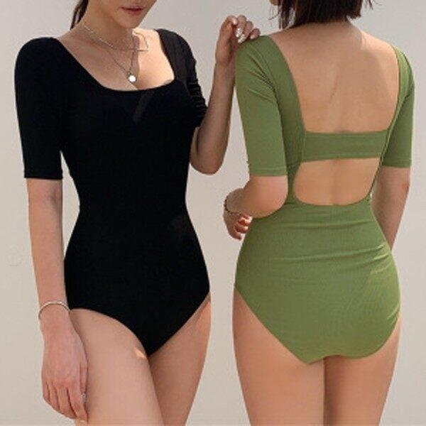 Nơi bán Anna Ánh Nắng Mặt Trời Cửa Hàng Bộ Đồ Bơi Thời Trang Mới Thời Trang Nữ Áo Tắm Một Mảnh In Hình Màu Trơn Hở Lưng Gợi Cảm Bikini ชุดว่ายน้ำหญิง Áo Tắm Hai Mảnh