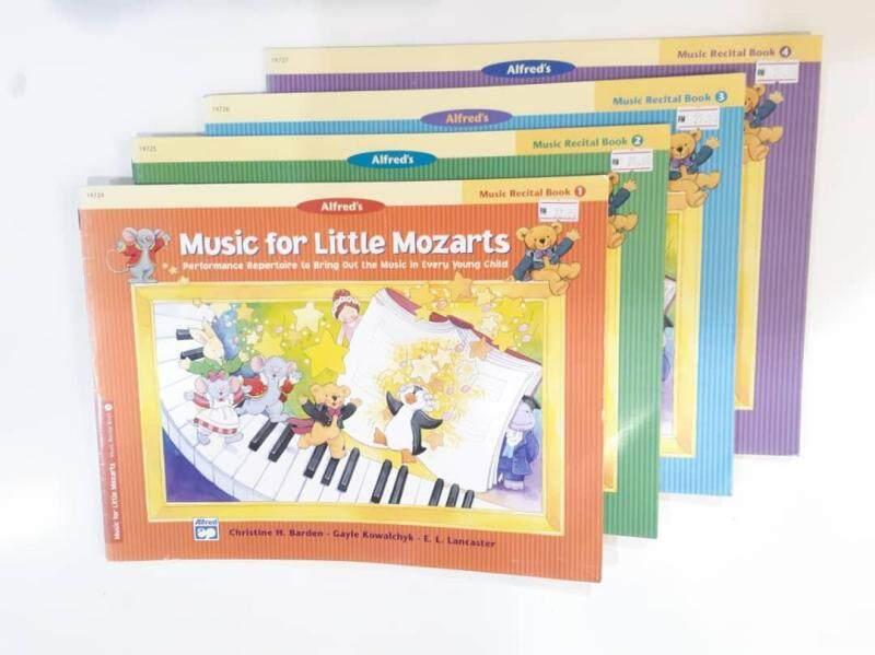 Music for Little Mozarts: Music Recital Book 1 - 4 (FREE COLOURING BOOK BK1-4) Malaysia
