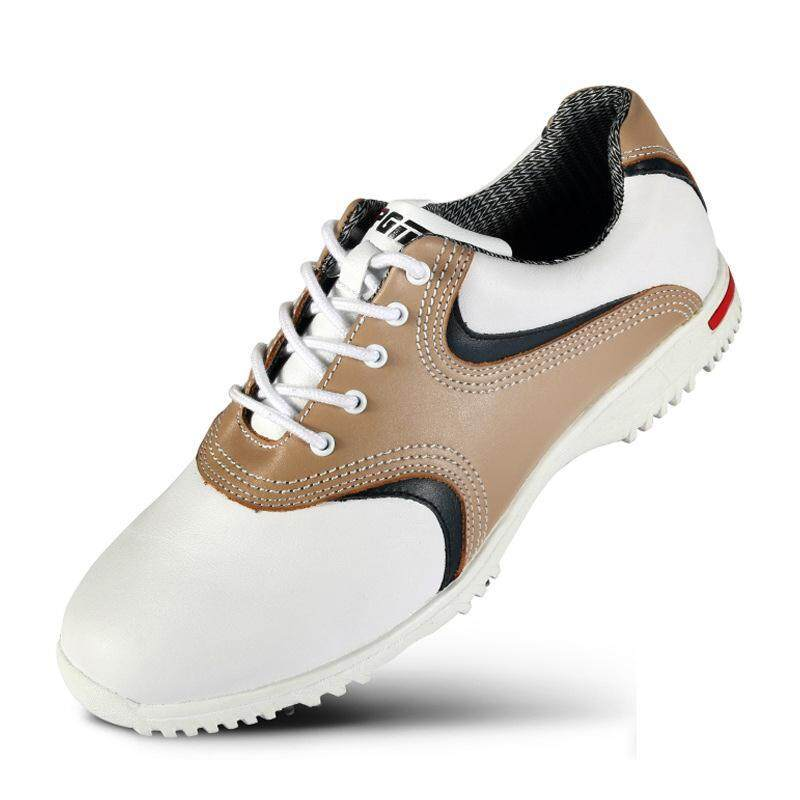 Neuma 2019 Golf Shoes Men's Leather Activities Nail Shoes Golf Waterproof Shoes