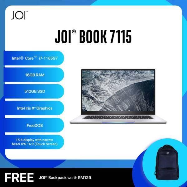 JOI Book 7115 (i7-1165G7/16GB/512GB SSD/W10P/Touch/Gray) Free JOI Backpack Malaysia