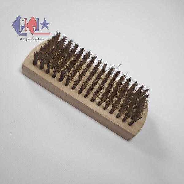 NEKEN Copper Hard Brush Remove Rust Cleaning Wooden Copper Brush