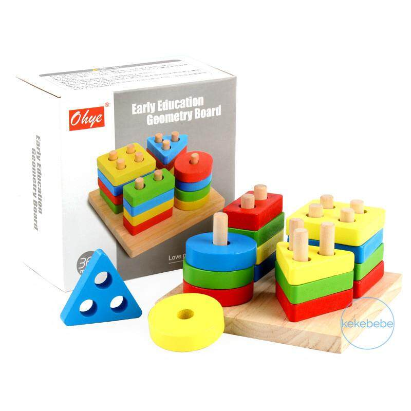 Toys & Hobbies Wooden Fraction Shape Puzzle Toy For Montessori Early Educational Learning Save 50-70% Model Building