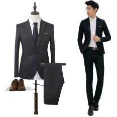 Bộ vest nam dáng ôm dành cho nam công sở thích hợp phỏng vấn dự tiệc thiết kế đơn giản thanh lịch chất liệu cao cấp