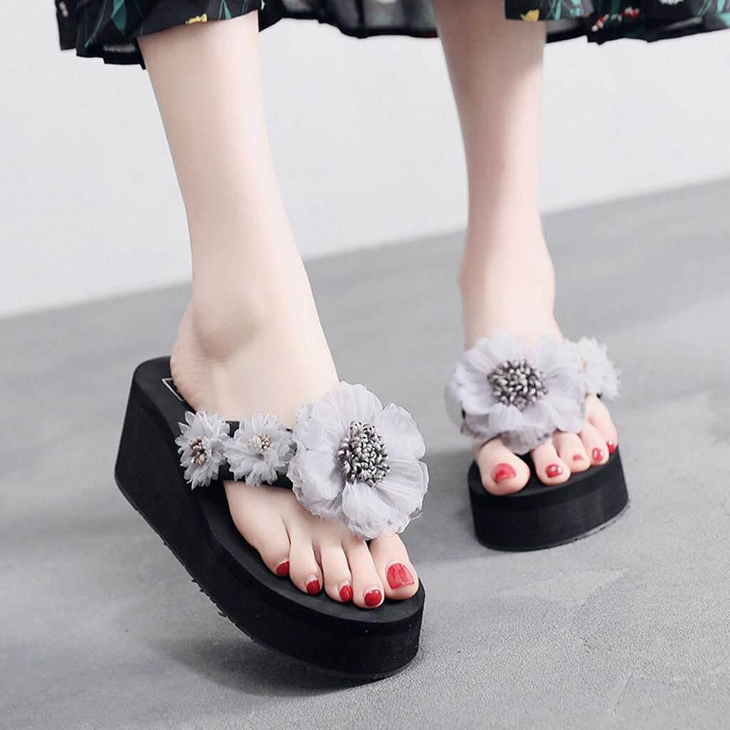 02637578f Petenies Women Ladies Fashion Summer Flowers Bohemian Style Slippers Beach  Sandals Shoes