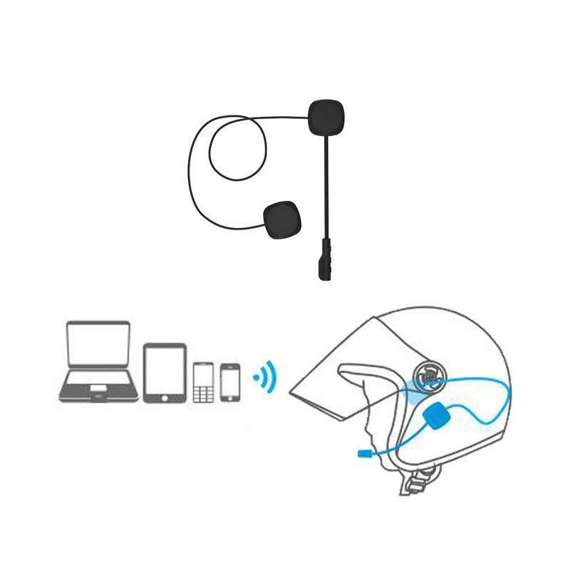 L1M Bluetooth 5.0 Sepeda Motor Helm Headset Bluetooth Siaga Dalam Waktu Lama Helm Headphone Hands-