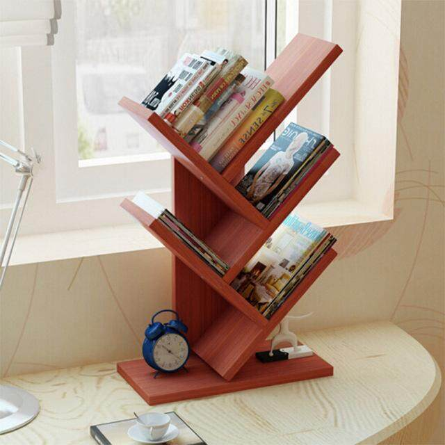 Tree Shape Simple Household Mini Book Shelf Students Office Creative Table Rack By Tumbo.