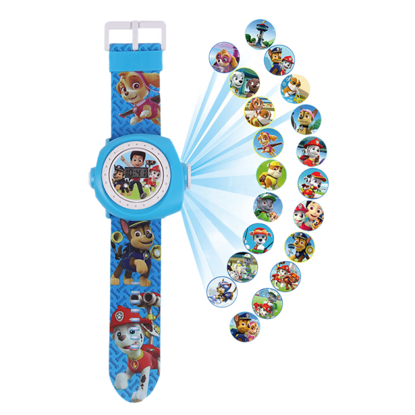 Childrens toys projection watch ultraman cartoon digital watches wang wang team iron man ice colors pony bao li Malaysia