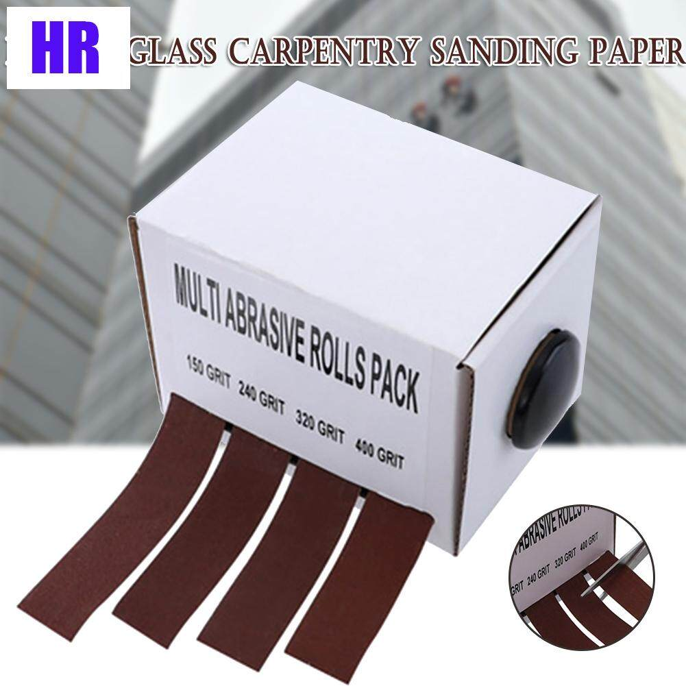 Abrasive Paper Sandpaper with Dispenser Drawable Emery Cloth Roll Metal Glass Carpentry Sand Paper
