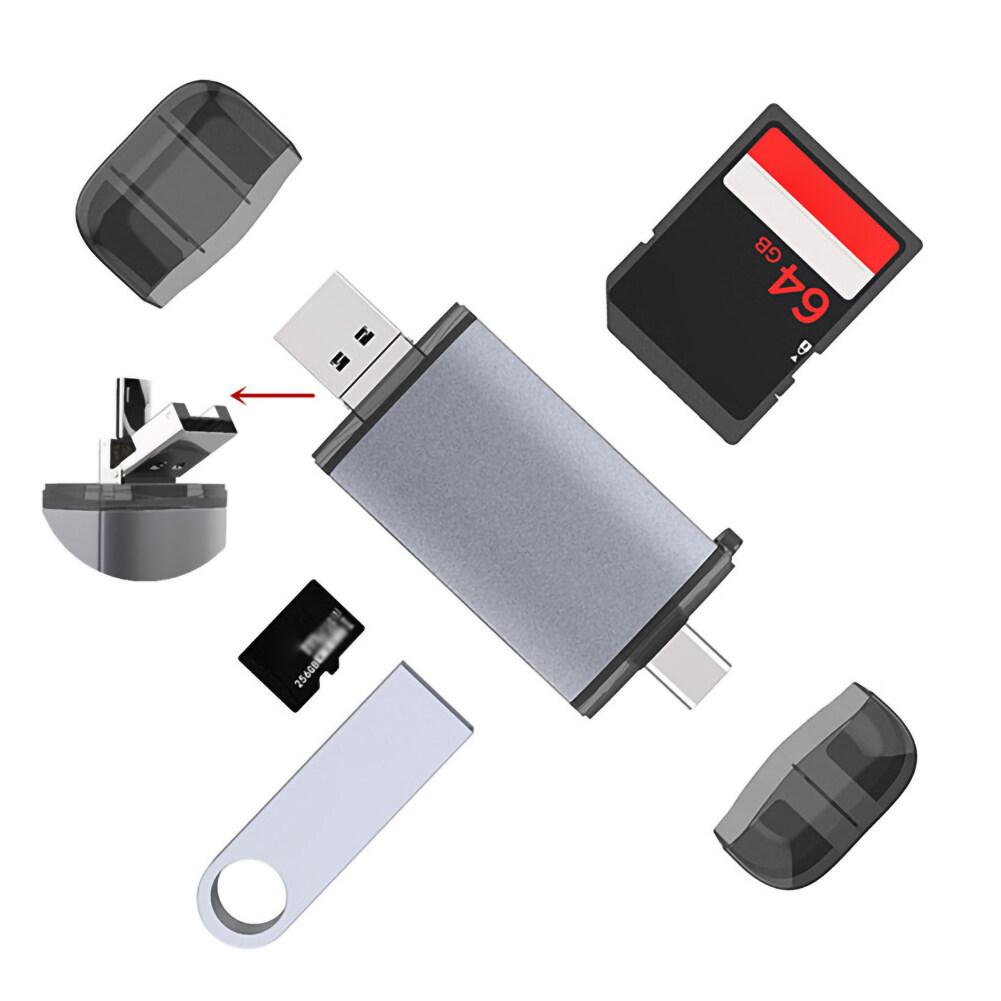 Giá Đa Chức Năng Loại C Đầu Đọc Thẻ OTG 6 Trong 1 SD/TF Máy Tính Điện Thoại Đa Năng Có Cổng USB femal Cổng Loại C Adapter USB C