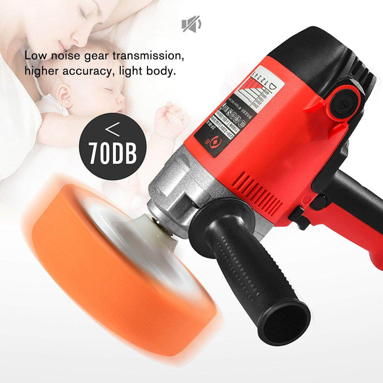 Hot Deals Car Grinder Polisher 2500RPM 5 Speed Polishing Sanding Waxing Power Machine