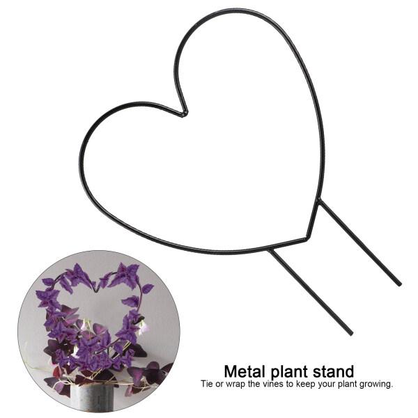 [Pantorastar] Plant Stand Stalks Vine Rack Heart Shaped Support Frame Plants Pot Trellis Topper Black Garden Climbing Decorative Holder Rose Tomato Peas Anti-rust Iron Ring