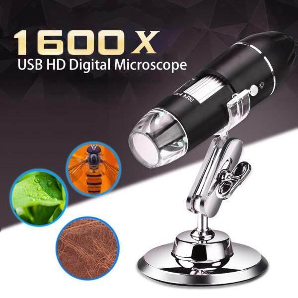 Crystalawaking 1600X HD Điện Tử Kính Hiển Vi Kỹ Thuật Số Cầm Tay USB Kính Phóng Đại Cho Win Xp/7
