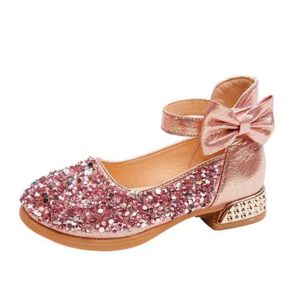 Giá bán Giày Nữ Kuangjo Phiên Bản Hàn Quốc Của Giày Da Nhỏ Tide Giày Công Chúa Giày Dép Trẻ Em 2020 Đế Mềm Cao Gót Mới